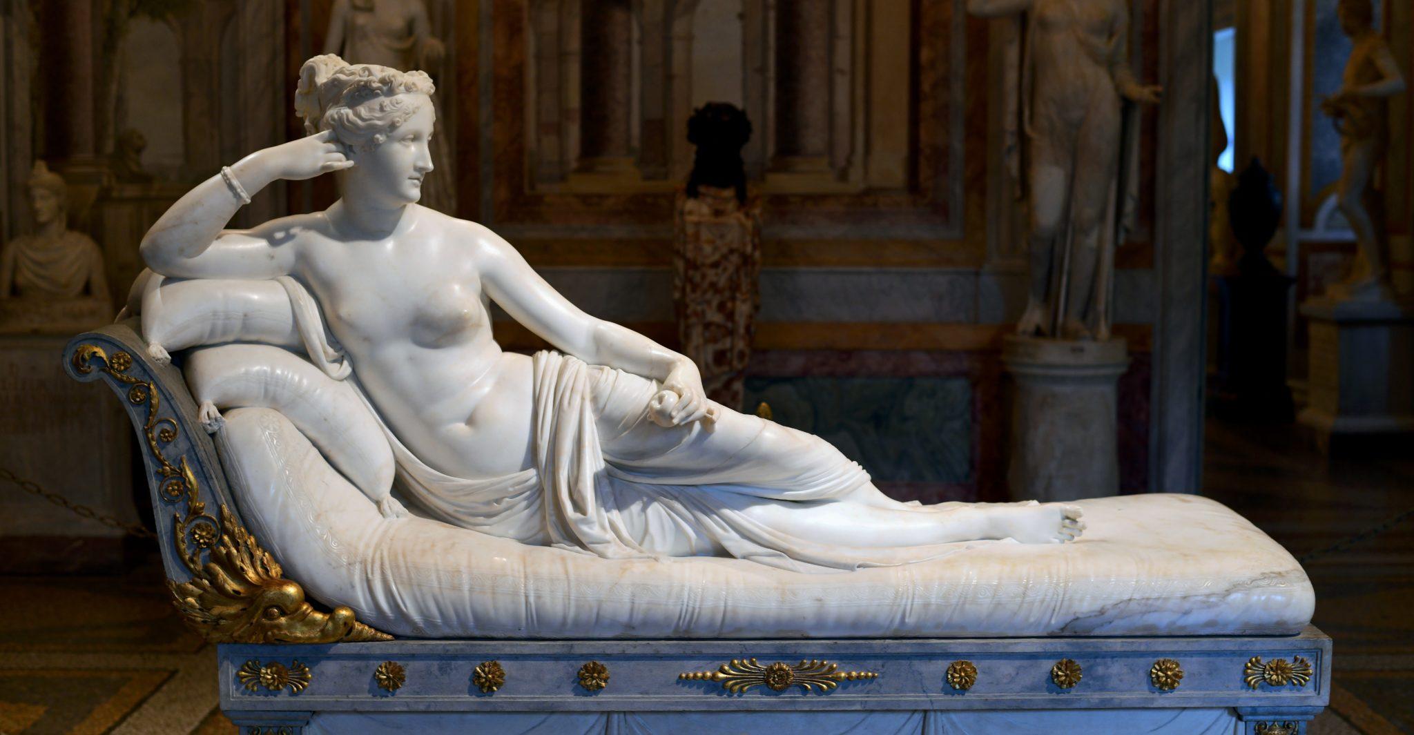 Antonio Canova e la sua Paolina Borghese